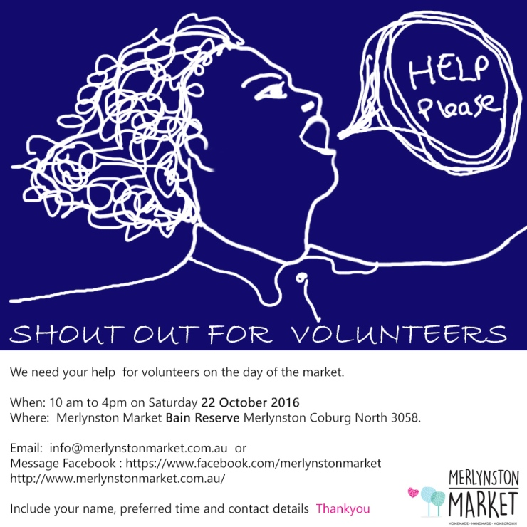Looking for a few helpful hands on 22 October at Bain Reserve - there are a variety of jobs. Half an hour to all day slots contact either Fern on 0408978747 or Vanessa info@merlynstonmarket.com.au